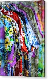 Colorful Aloha Acrylic Print by Deena Otterstetter