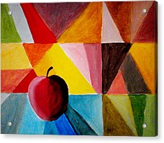 Colorful Apple Acrylic Print by Constantinos Charalampopoulos