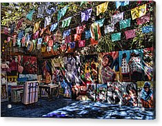 Colorful Art Store In Mexico Acrylic Print by David Smith