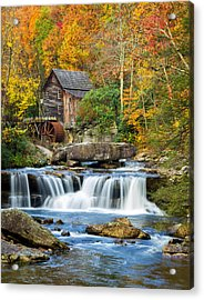 Colorful Autumn Grist Mill Acrylic Print