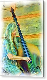 Colorful Bass Fiddle Acrylic Print