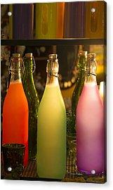 Colorful Bottles Closeup Acrylic Print
