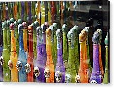 Colorful Bottles Of Limoncello Acrylic Print by Sami Sarkis