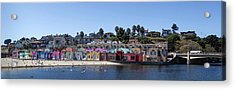 Colorful Buildings And Beach Acrylic Print