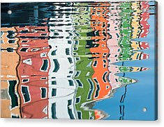 Colorful Canal Acrylic Print by Joan Herwig