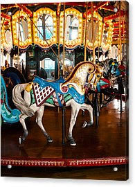 Acrylic Print featuring the photograph Colorful Carousel Horse by Jerry Cowart