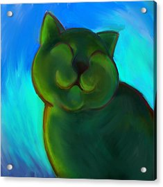Colorful Cat 4 Acrylic Print by Anna Gora