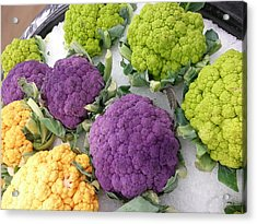 Acrylic Print featuring the photograph Colorful Cauliflower by Caryl J Bohn