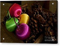 Colorful Christmas Balls Acrylic Print