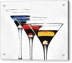 Colorful Cocktails Acrylic Print