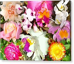 Colorful Collage Acrylic Print by Van Ness