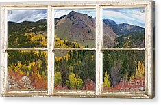 Colorful Colorado Rustic Window View Acrylic Print