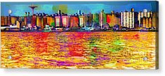 Colorful Coney Island Acrylic Print