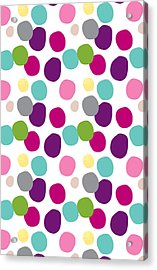 Colorful Confetti 2 Acrylic Print by Linda Woods
