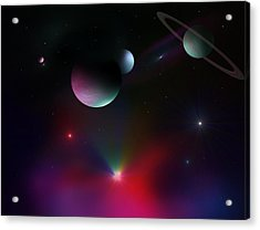 Colorful Cosmos Acrylic Print by Ricky Haug