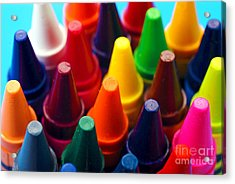 Colorful Crayons Closeup Acrylic Print