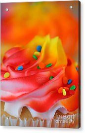 Colorful Cup Cake Acrylic Print by Darren Fisher