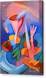 Colorful Dinner Acrylic Print by Lutz Baar