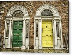 Colorful Doors In Dublin Acrylic Print by Patricia Hofmeester