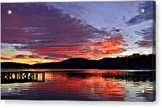 Colorful Evening Acrylic Print by Susan Leggett