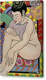 colorful figure painting - In My House Acrylic Print