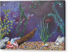 Colorful Fish Tank Cropped Acrylic Print