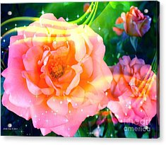 Pretty Pink Flowers Acrylic Print
