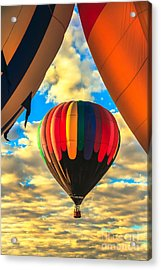 Colorful Framed Hot Air Balloon Acrylic Print by Robert Bales
