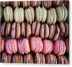 Colorful French Macarons Acrylic Print by Tanya Harrison