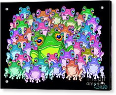 Colorful Froggy Family Acrylic Print