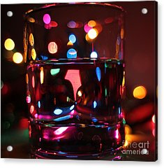 Colorful Glass Bokeh Acrylic Print by Jimmy Ostgard