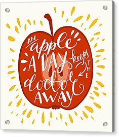 Colorful Hand Lettering Illustration Of Acrylic Print by Tashanatasha