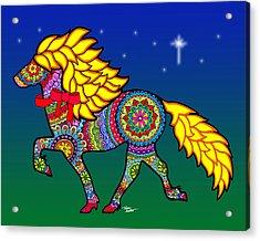 Colorful Horse Tangle Design Acrylic Print