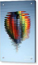 Colorful Hot Air Balloon Ripples Acrylic Print by Carol Groenen