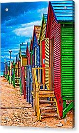 Colorful Houses At St James Acrylic Print by Cliff C Morris Jr