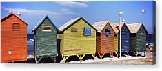 Colorful Huts On The Beach, St. James Acrylic Print