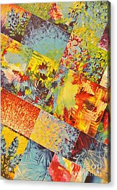 Colorful Indecision 3 Acrylic Print by Julia Di Sano