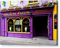 Colorful Irish Pub Acrylic Print