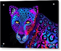 Colorful Jaguar Acrylic Print