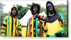 Colorful Jamaican Stilt Walkers Acrylic Print