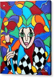 Colorful Jester Acrylic Print