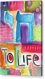 Colorful Life- Abstract Jewish Painting Acrylic Print