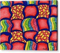 Colorful Life Acrylic Print by Lesa Weller