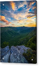Colorful Linville Sunrise Acrylic Print by Serge Skiba