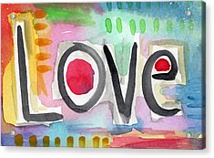 Colorful Love- Painting Acrylic Print