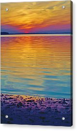 Colorful Lowtide Sunset Acrylic Print