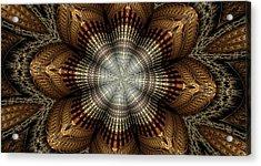 Colorful Metals Kaleidoscope Acrylic Print