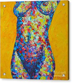 Colorful Nude  Acrylic Print