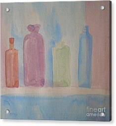 Colorful Old Friends Acrylic Print by Suzanne McKay