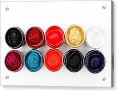 Colorful Paint Pots Acrylic Print
